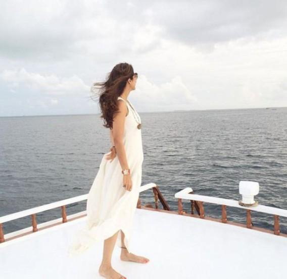 बॉलीवूड अभिनेत्री शिल्पा शेट्टीने मालदीवमध्ये पती राज कुंद्राचा वाढदिवस साजरा केला. यावेळी शिल्पा, राज आणि त्यांचा चिमुकला वियानने मालदीवमध्ये धम्माल-मस्ती केली. (छाया- इंस्टाग्राम)
