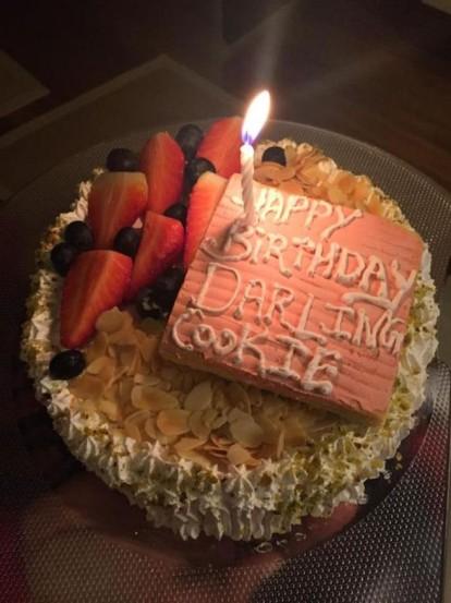 राज कुंद्राच्या वाढदिवसाच्या सेलिब्रेशनसाठी मागविण्यात आलेल्या केकचे छायाचित्र देखील शिल्पाने इंस्टग्रामवर शेअर केले आहे. (छाया- इंस्टाग्राम)