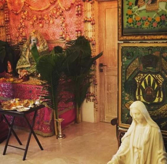 अभिनेत्री ट्विंकल खन्नाने शेअर केलेले तिच्या घरच्या बाप्पाचे छायाचित्र.