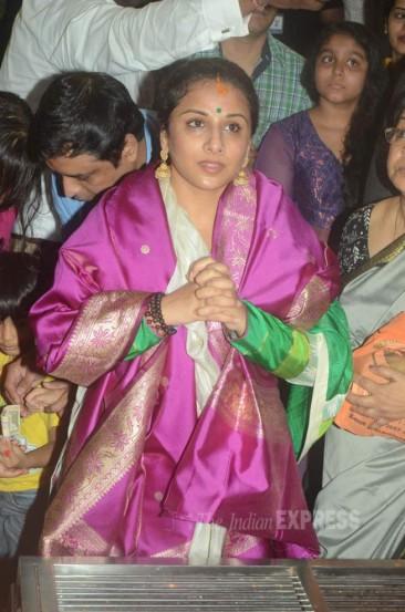 विद्या बालनसोबत तिची आई सरस्वती बालन देखील उपस्थित होत्या. (छाया- वरिन्दर चावला)