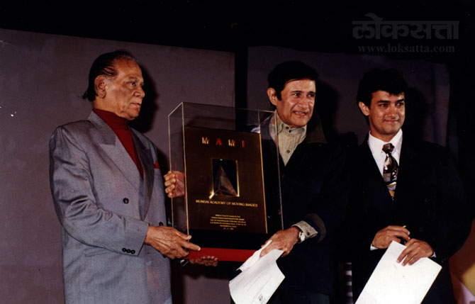 सदाबहार देव आनंद, जयराज आणि आमिर खान. (एक्स्प्रेस फोटो)