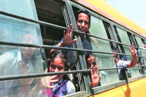 Action,school buses, students safety