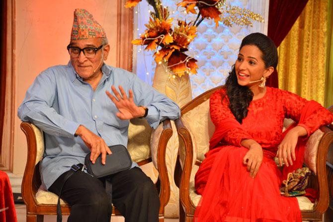 'सरपंच भगीरथ'च्या टीममधून दिग्दर्शक आणि प्रसिद्ध कवी रामदास फुटाणे आणि ज्येष्ठ अभिनेते डॉ. मोहन आगाशे व इतर कलाकारांनी हजेरी लावली होती.