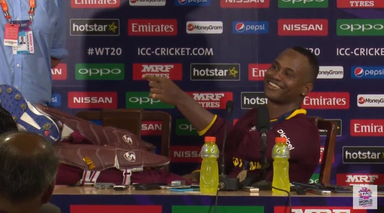 T20 world-cup,West Indies Won,ट्वेन्टी-२० विश्वचषक,वेस्ट इंडिज , MARLON SAMUELS , press conference , Loksatta, loksatta news, Marathi, Marathi news