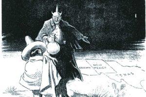 द टेम्टेशन : डॅलस मॉर्निग न्यूज या दैनिकात २ मार्च १९१७ रोजी प्रसिद्ध झालेले व्यंगचित्र.
