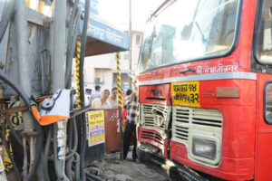 kolhapur, st bus, accident, driver, heart attack, killed, several, injured
