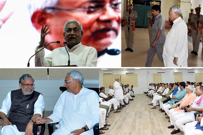 Nitish Kumar resignation , What happened in Bihar from last night after Nitish Kumar resigns , NitishGharWapsi , NitishKumar , Mahagathbandhan , Bihar, CM, Nitish resigns, BJP, Narendra modi, Sushil Modi, Lalu prasad Yadav, JDU, rjd, Tejaswi Yadav , Loksatta, Loksatta news, Marathi, Marathi news