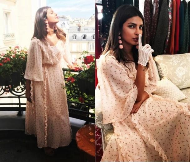 उल्याना सेरगीन्को कोचरने डिझाइन केलेल्या ड्रेसमध्ये प्रियांका