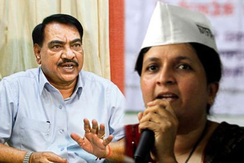 Anjali Damania , BJP , Eknath Khadse , Devendra Fadnavis , cabinet expansion in maharashtra , Anjali Damania demands to file molestation case against BJP leader Eknath Khadse , Loksatta, Loksatta news, Marathi, Marathi news