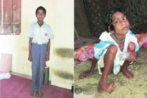 school boy , handicapped sister,