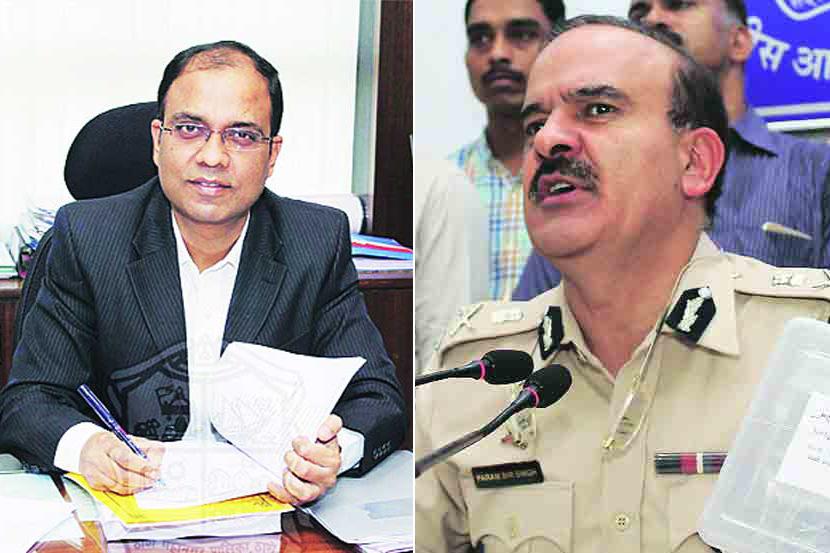 tmc chief Sanjeev Jaiswal Commissioner Parambir Singh