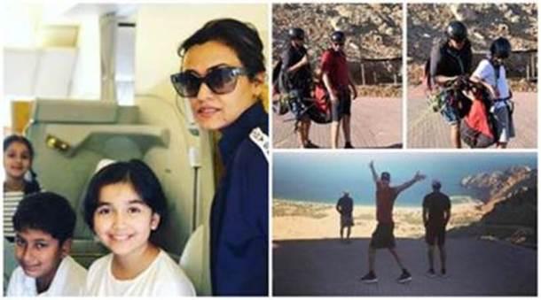दाक्षिणात्य चित्रपटसृष्टीतील आघाडीचा अभिनेता महेश बाबू, त्याची पत्नी नम्रता शिरोडकर, मुलगा गौतम आणि मुलगी सितारा सध्या ओमानमध्ये सुट्ट्यांचा आनंद घेत आहेत. या सेलिब्रिटी कुटुंबाने नवीन वर्षाचे स्वागतही तेथेच केले. या व्हेकेशनमधील काही सुंदर क्षणाचे फोटो नम्रताने तिच्या सोशल मीडिया अकाऊंटवर शेअर केले आहेत. (छाया सौजन्य : इन्स्टाग्राम)