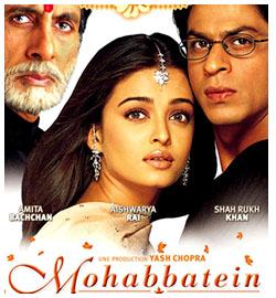मोहोब्बते (२०००)- या सिनेमामध्ये श्रीदेवीला एक खास भूमिका देण्यात आली होती. मात्र तिने ती भूमिका साकारण्यास नकार दिला. त्यामुळे सिनेमाची संपूर्ण गोष्टच बदलण्यात आली आणि श्रीदेवीच्या जागी कोणालाच ही व्यक्तीरेखा साकारण्याची संधी मिळाली नाही. अमिताभ बच्चन, शाहरुख खान आणि ऐश्वर्याच्या या सिनेमाने चांगली कमाई केली होती.
