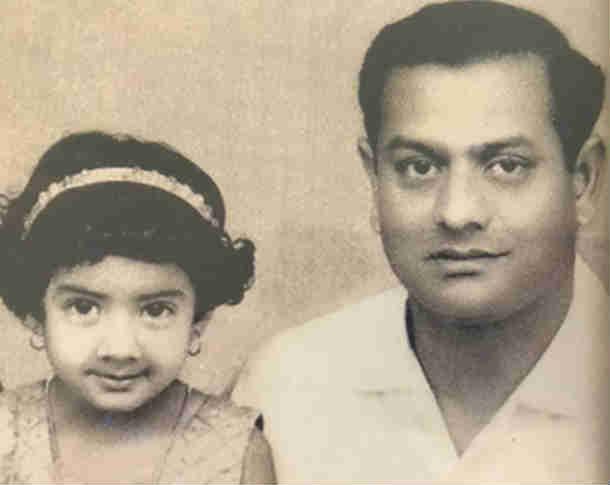 श्रीदेवी आणि त्यांचे वडील.