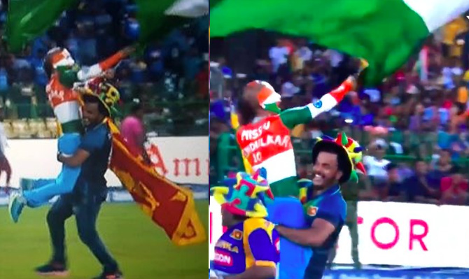 श्रीलंकन क्रिकेट चाहत्याने भारतीय झेंडा फडकवणाऱ्या सुधीरला उचलून घेतल्याचे फोटो ट्विटवर आणि इतर समाजमाध्यमांवर व्हायरल झाले. अनेकांनी हा क्रिकेट या खेळाचा विजय असल्याचे मत व्यक्त केले.