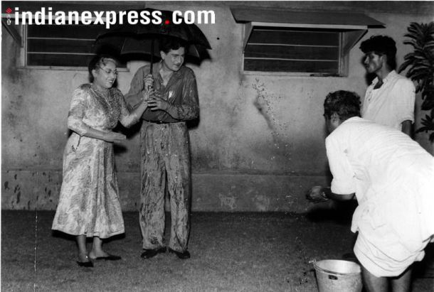 ललिता पवार आणि राज कपूर यांचा दुर्मिळ फोटो