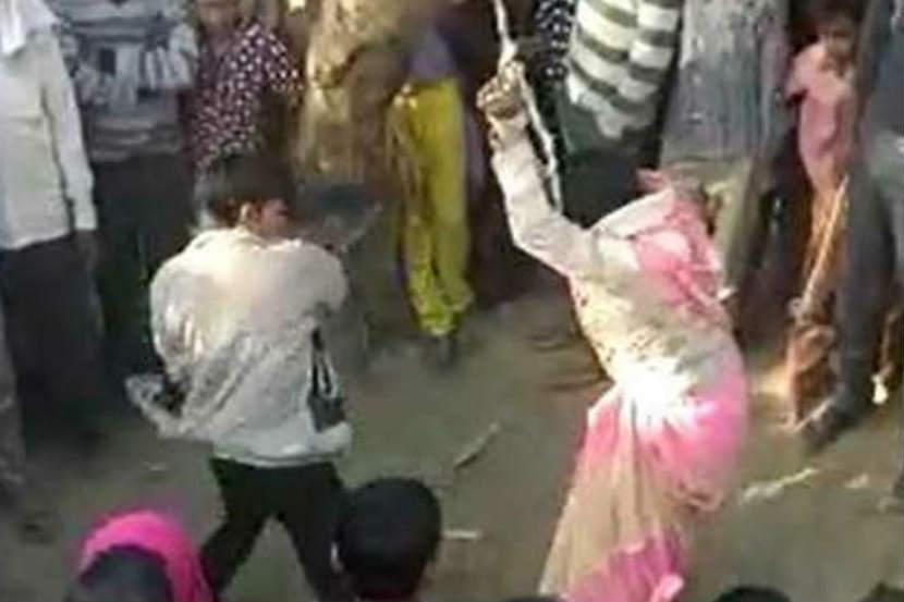 uttar pradesh, Woman, flogged