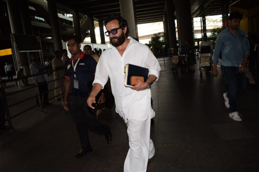 सोशल मीडियावर या कलाकारांचे मुंबई विमानतळावरचे काही फोटो व्हायरल झाले. ज्यामध्ये सैफसह इतरही कलाकार पाहायला मिळाले.