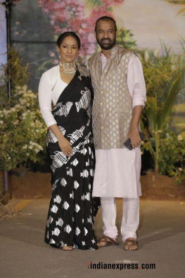 पती मधू मंटेनासोबत फॅशन डिझायनर आणि सोनमची जिवलग मैत्रिण मसाबा गुप्ता