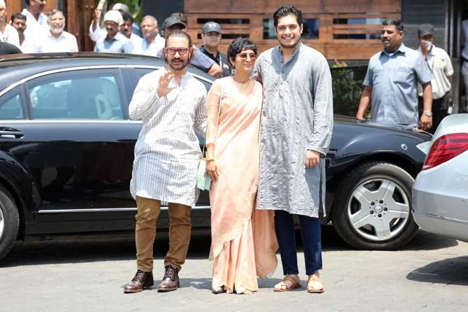 परफेक्शनिस्ट अभिनेता आमिर खान आणि त्याचं कुटुंब (छाया- अमित चक्रवर्ती)