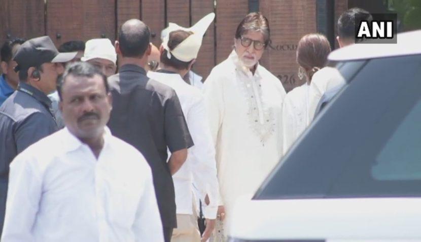 अमिताभ बच्चन (छाया सौजन्य- एएनआय/ ट्विटर)