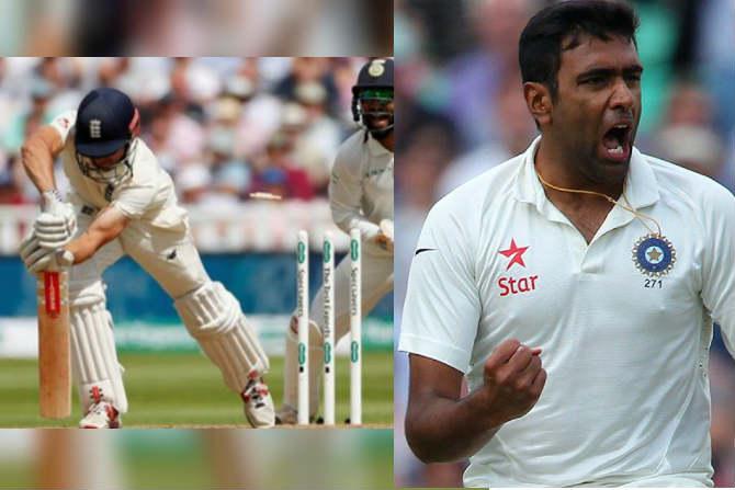 Eng vs Ind Test : फिरकीपटू अश्विनने अनुभवाला साजेशी गोलंदाजी केली. दोनही डावात त्याने इंग्लंडचा माजी कर्णधार अॅलिस्टर कुक याला सारख्याच पद्धतीने त्रिफळाचित केले. आतापर्यंत अश्विनने कुकला सर्वाधिक ९ वेळा बाद केले आहे.