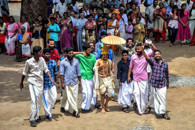 कोट्टायम जिल्ह्यातील वेचूर गावी शुक्रवारी हा सण साजरा झाला. (छाया सौजन्य- Vignesh Krishnamoorthy)