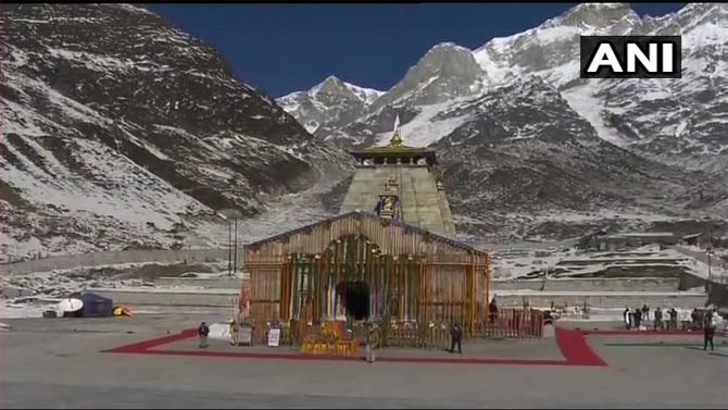 मंदिर परिसरात कडेकोट बंदोबस्त ठेवण्यात आला होता