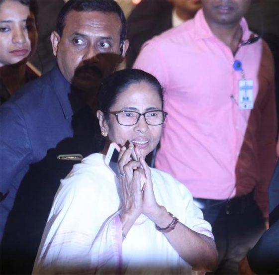 पश्चिम बंगालच्या मुख्यमंत्री ममता बॅनर्जीदेखील आल्या होत्या (छाया : निर्मल हरिंद्रन)