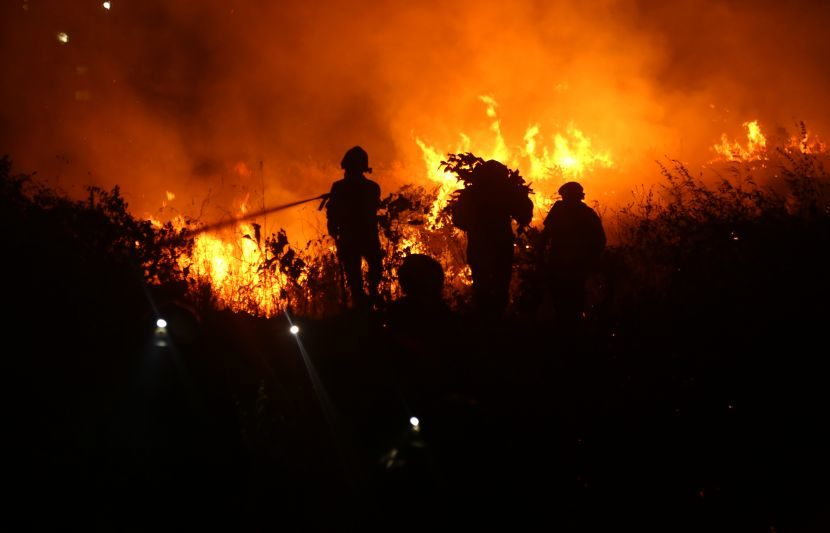 आग विझवण्यासाठी अग्निशन दलाचे जवळपास 100 जवान शर्थीचे प्रयत्न करत होते. (Express Photo: Dilip Kagda)