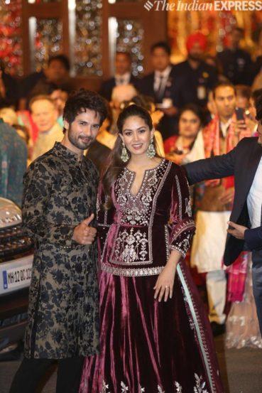 शाहिद कपूर आणि त्याची पत्नी मीरा राजपूत (छाया : निर्मल हरिंद्रन)