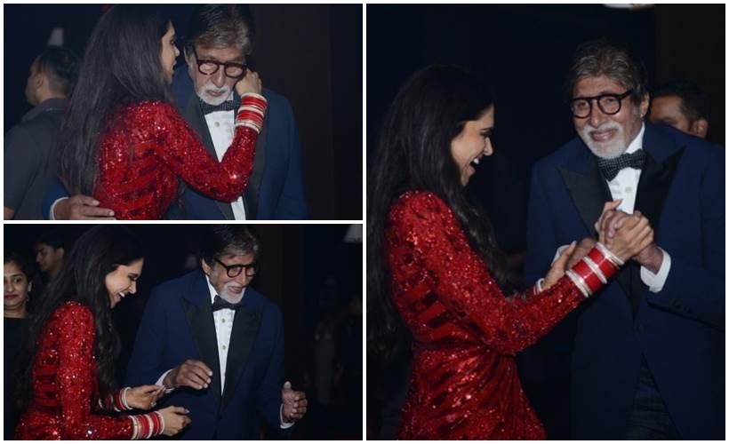 या रिसेप्शनमध्ये बॉलिवूडचे महानायक अमिताभ बच्चन यांनी त्यांच्या परिवारासोबत उपस्थिती दर्शविली होती. त्यामुळे या पार्टीतील काही फोटो त्यांनी सोशल मीडियावर शेअर केले आहेत.