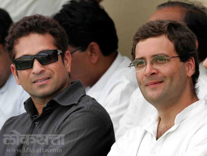 काँग्रेस अध्यक्ष राहुल गांधींसोबत सचिन