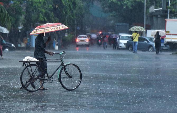 नवी मुंबईतल्या अनेक भागांमध्ये पाऊस सुरू झाला आहे. वायू वादळ आल्याने मान्सून चांगलाच लांबला. कुठेही पाऊस नव्हता आता मात्र पावसाला सुरूवात झाली आहे. (छाया - निर्मल हरिंद्रन)