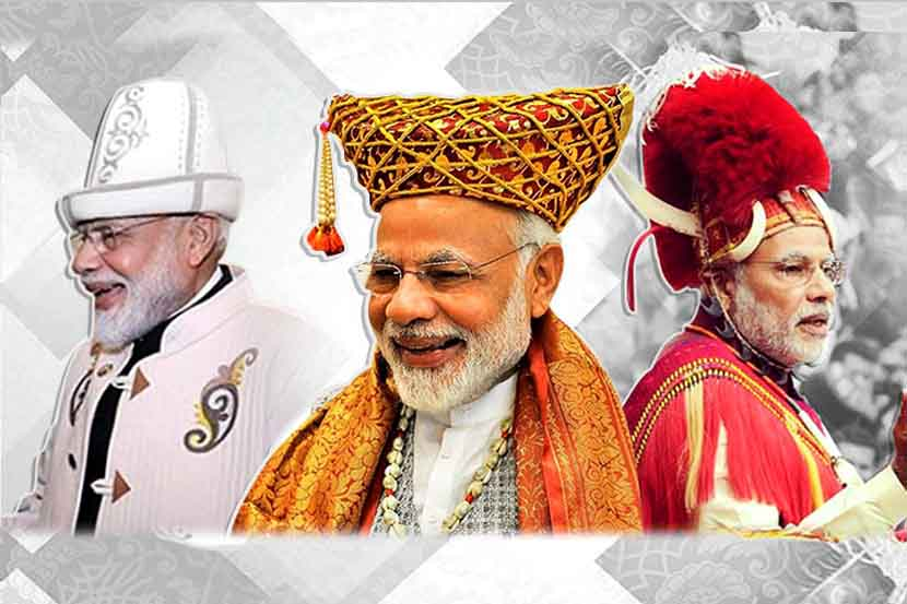 भारताचे पंतप्रधान नरेंद्र मोदी लोकप्रियतेच्या बाबतीत कोणत्याही सेलिब्रिटीपेक्षा कमी नाही. अनेक मोठ-मोठ्या कलाकारांना लाजवेल इतके फॅन फॉलोइंग मोदींकडे आहे. मोदींनी आजवर जगभरातील अनेक देशांना भेटी दिल्या आहेत. प्रत्येक ठिकाणी मोदींचे जंगी स्वागत केले गेले. दरम्यान तेथील संस्कृतीबाबत आदर व्यक्त करण्यासाठी त्यांनी काही वेळा पारंपरिक पोशाखही परिधान केले. आज आपण पारंपरिक पोशाखातले मोदींचे काही दिमाखदार फोटो पाहाणार आहोत.