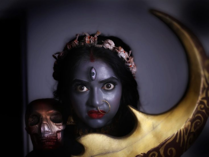 सातवं रुप आहे 'कालीमाते'चं. दुष्टांच्या अंतासाठी देवीने हे रुप धारणं केल्याचा उल्लेख पुराणांमध्ये आढळतो.