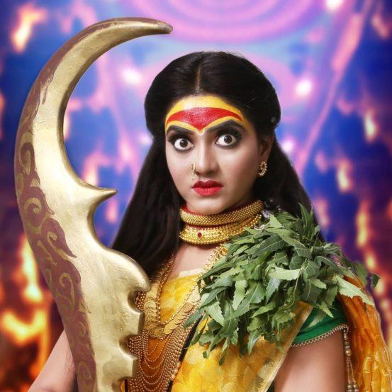 पाचवे रुप आहे 'यलम्मा देवी'.यल्लम्मा देवी हे कालीचेच रूप मानले जाते.ग्रामीण कर्नाटक,आंध्र प्रदेश आणि महाराष्ट्रात यलम्मा देवीचे उपासक आढळतात.यल्लम्मा देवीचा एक हात अहंपणाचा नाश करणारा आहे,आणि दुसरा हात हाभक्तांवर वरदहस्त दाखवणारा आहे. यल्लम्मा देवीची दक्षिण भारतात मुख्यत्वे पूजा होते.
