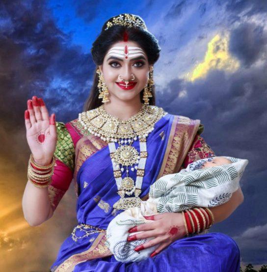 """चतुर्थ रुप आहे 'मरियम्मा देवी'चं.मरियम्मा ही तमिळ प्रांतातील देवी आहे,ज्याची उपासना पूर्व-वेदिक भारतात सुरु झाली. मरी या शब्दाचा अर्थ आहे """"पाऊस"""" आणि अम्माचा अर्थ """"आई"""" आहे. तामिळनाडूच्या ग्रामीण भागात'मरियम्मा देवी' आई म्हणून ओळखली जाते."""